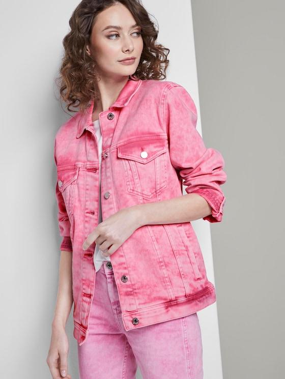 Nena & Larissa: Denim jasje in pastel gewassen look - Vrouwen - washed pink - 5 - TOM TAILOR Denim
