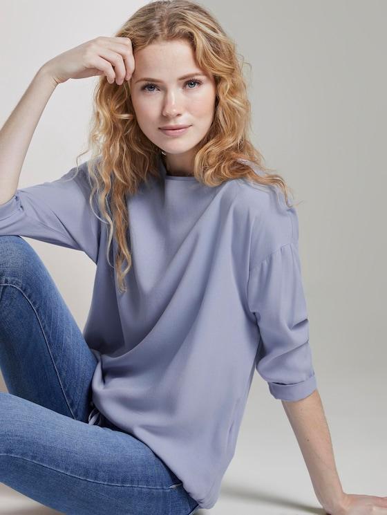 Bluse mit elastischem Bund - Frauen - Parisienne Blue - 5 - TOM TAILOR