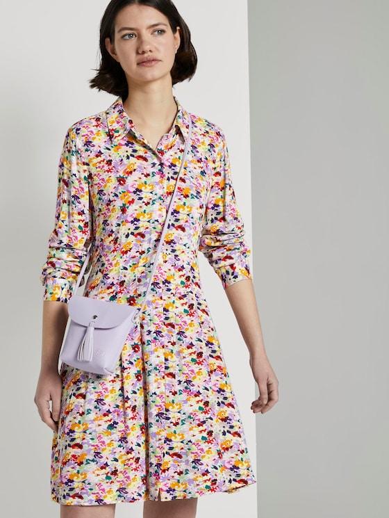 Mini Hemdkleid mit floralem Print - Frauen - multicolor flower print - 5 - TOM TAILOR Denim