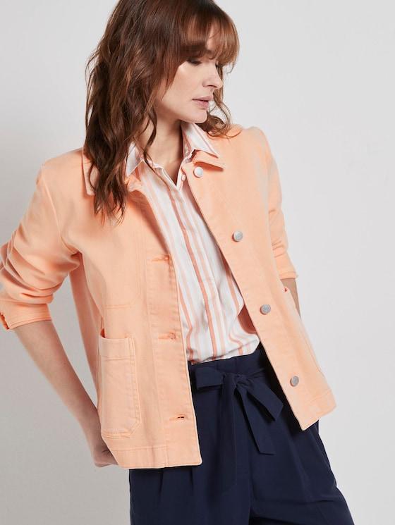 Nena & Larissa: Jeansjacke mit großen Taschen - Frauen - peach blossom - 5 - TOM TAILOR