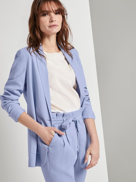 Nena & Larissa: Lockerer Blazer - Frauen - Parisienne Blue - 5 - TOM TAILOR