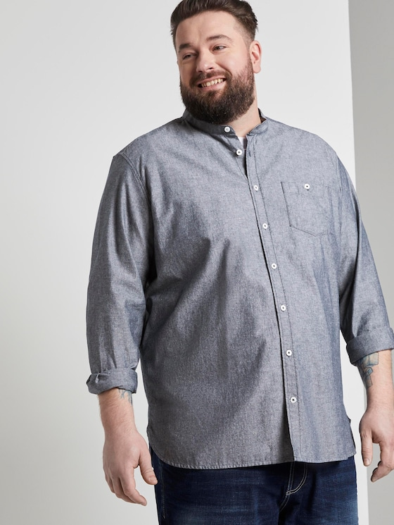Overhemd - Mannen - dark navy chambray - 5 - Men Plus