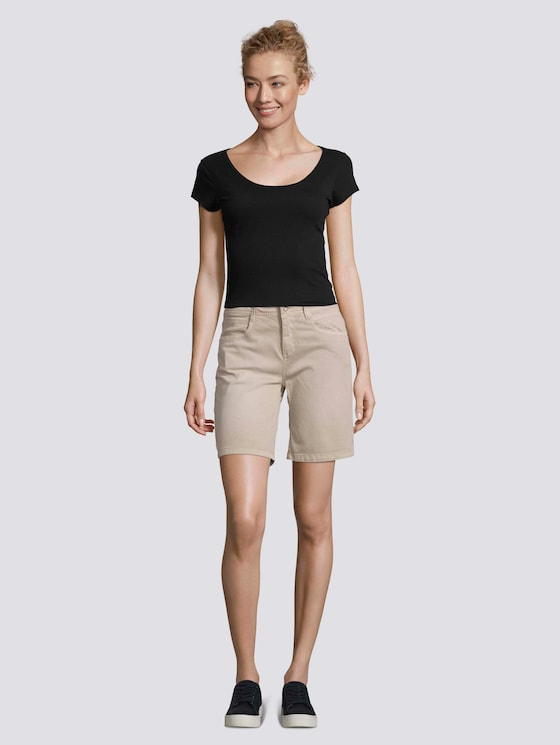 Alexa Slim Bermuda Shorts - Frauen - Dusty Taupe - 3 - TOM TAILOR