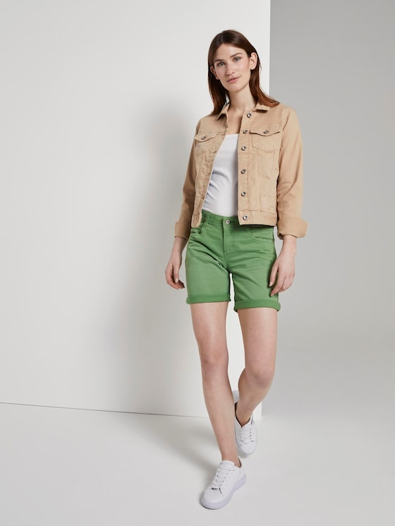 Alexa Slim Bermuda Shorts - Vrouwen - sundried turf green - 3 - TOM TAILOR