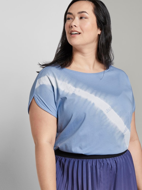 Curvy-T-Shirt im Batik-Look - Frauen - Parisienne Blue - 5 - My True Me