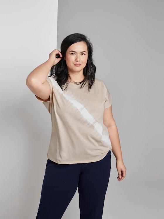 T-shirt with a tie-dye print - Women - soft vanilla - 5 - My True Me