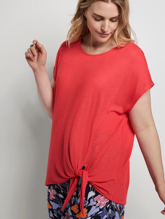 T-Shirt mit Knoten-Detail - Frauen - Virtual Rec - 5 - My True Me