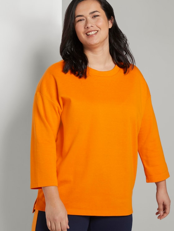 Zweilagiges Sweatshirt - Frauen - bright mandarin - 5 - My True Me