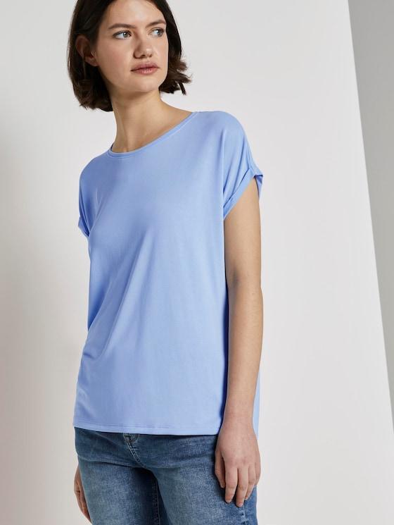 Lockeres T-Shirt aus Modal - Frauen - fresh light blue - 5 - TOM TAILOR Denim