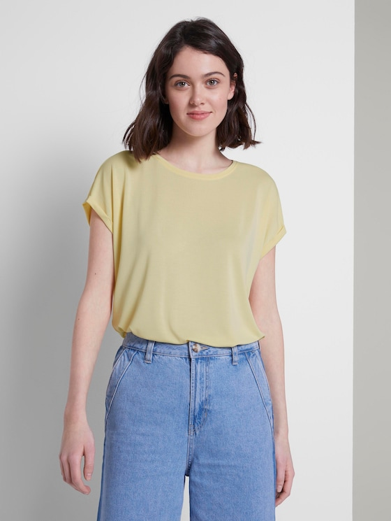 Lockeres T-Shirt aus Modal - Frauen - pale yellow - 5 - TOM TAILOR Denim