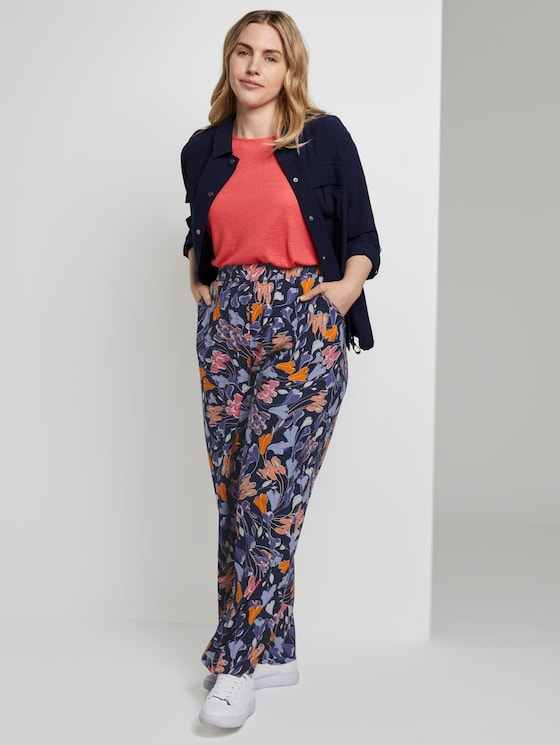 Palazzo-Hose mit Blumenmuster - Frauen - colorful blue flower print - 3 - My True Me