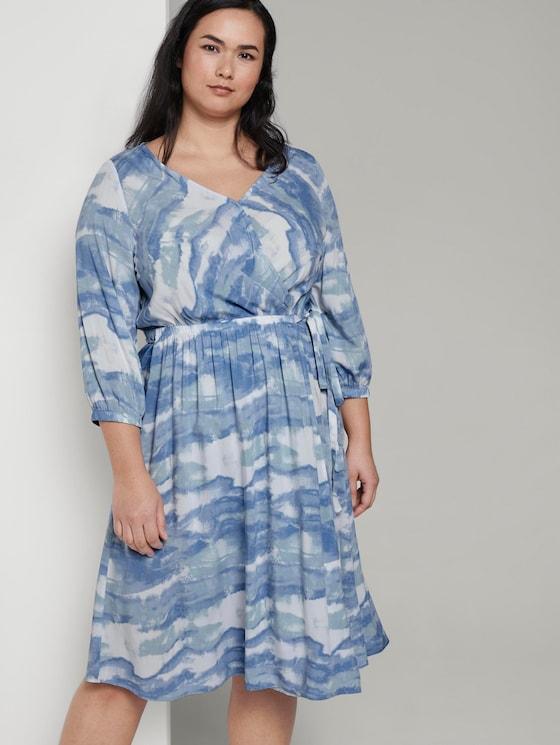 Wrap dress in a tie-dye look - Women - bluish tie dye - 5 - My True Me