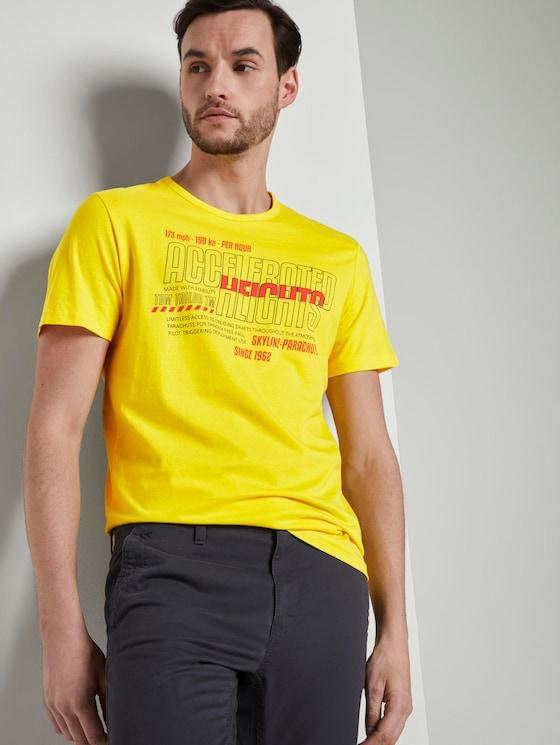 T-Shirt mit Print - Männer - bright yellow - 5 - TOM TAILOR