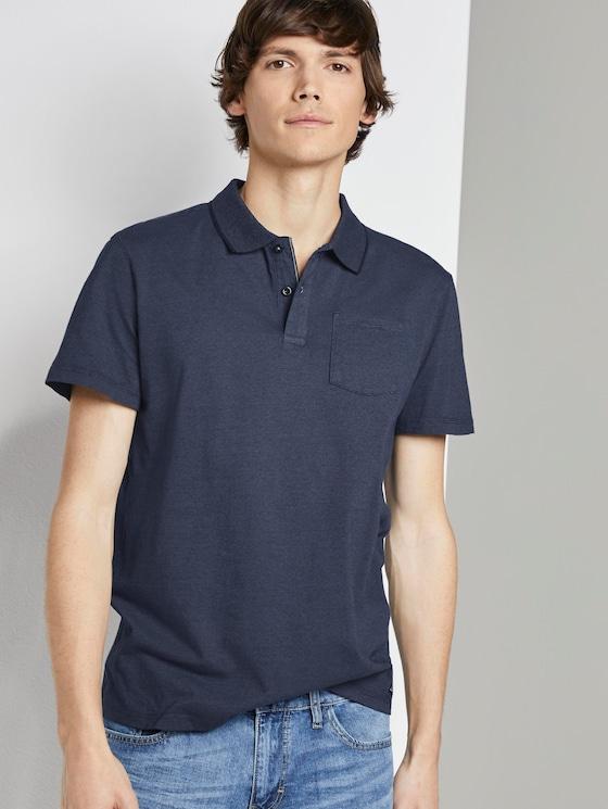 Eingefärbtes Poloshirt mit Streifenmuster - Männer - blue overdye stripe - 5 - TOM TAILOR