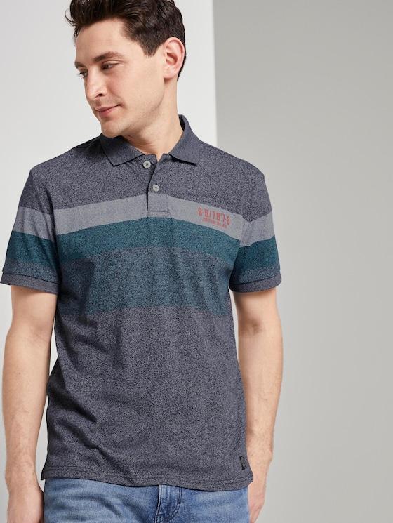 Striped polo shirt - Men - blue mocktwist - 5 - TOM TAILOR