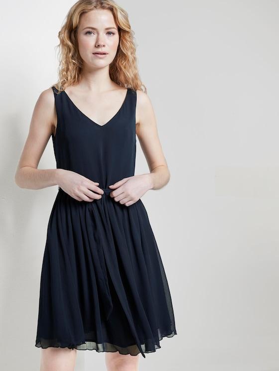 Kleid aus Chiffon - Frauen - Sky Captain Blue - 5 - TOM TAILOR