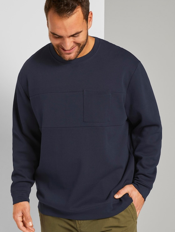 Basic sweatshirt - Men - Sky Captain Blue - 5 - Men Plus
