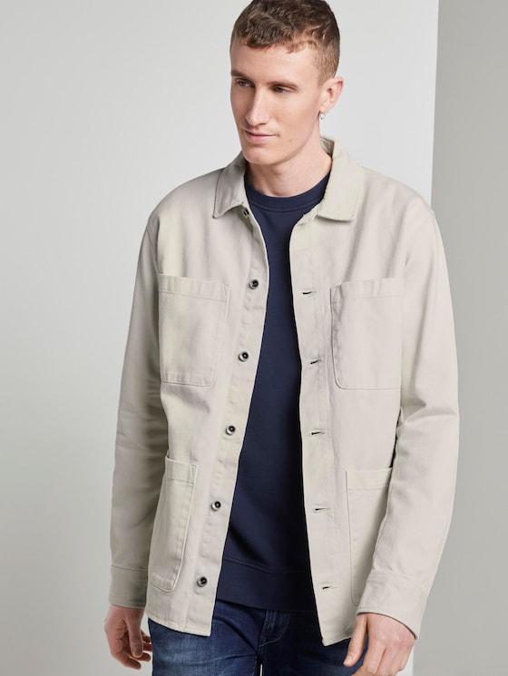 Jacke im Hemdstil - Männer - Washed White - 5 - TOM TAILOR Denim