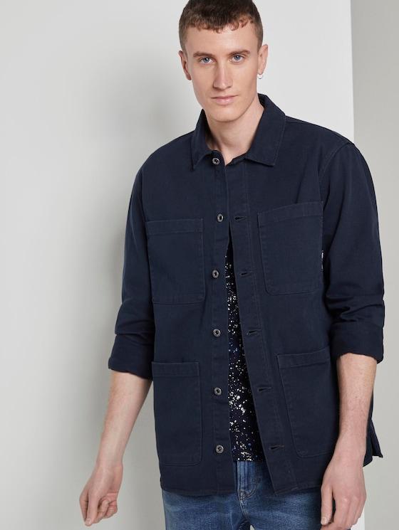 Jas in overhemd stijl - Mannen - Sky Captain Blue - 5 - TOM TAILOR Denim