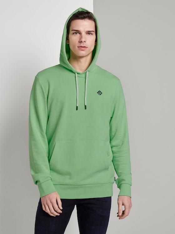 Bedrukte Hoodie - Mannen - soft neo green - 5 - TOM TAILOR Denim