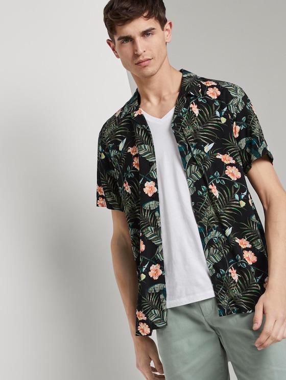 Kurzarm-Hawaiihemd mit floralem Muster - Männer - colorful botanical print - 5 - TOM TAILOR Denim