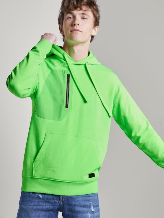 Oversized Kapuzensweater - Männer - neon lime green - 5 - TOM TAILOR Denim