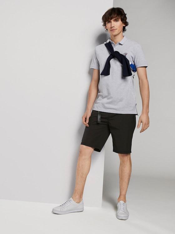 Basic Shorts mit Gürtel - Männer - Black - 3 - TOM TAILOR Denim