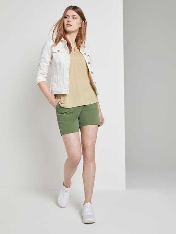 Cargo Shorts - Frauen - dull moss green - 3 - TOM TAILOR Denim