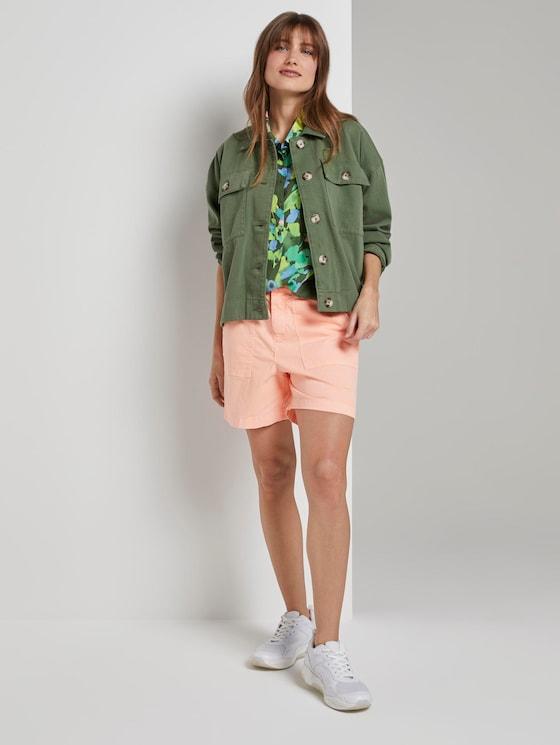 Cargo Shorts - Frauen - papaya neon orange - 3 - TOM TAILOR Denim