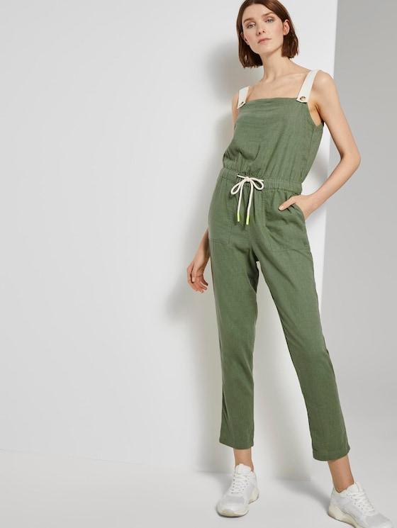 Utility Latzhosen-Jumpsuit - Frauen - olive green - 5 - TOM TAILOR Denim
