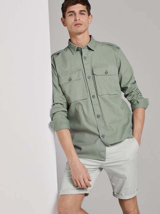 Utility Hemdjacke - Männer - Dusty Leave Green - 5 - TOM TAILOR Denim