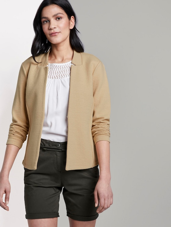 Strukturierter Ottoman-Blazer - Frauen - cream toffee - 5 - TOM TAILOR