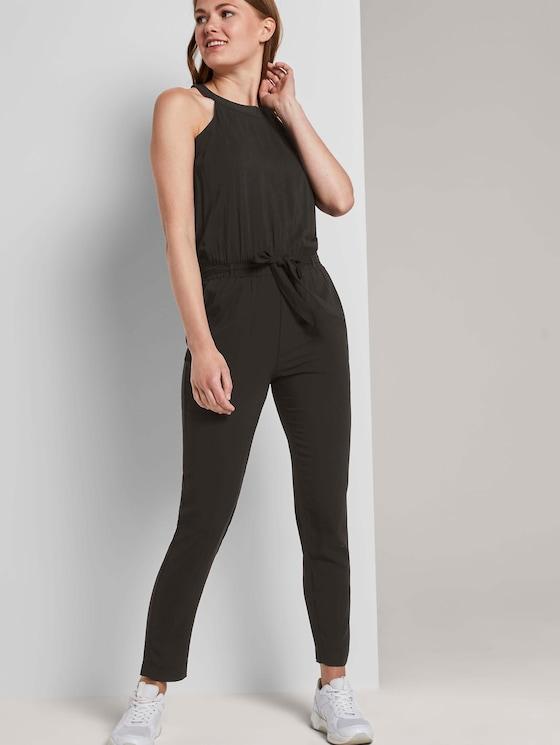 Relaxed Neckholder-Jumpsuit - Frauen - Deep Black - 5 - TOM TAILOR Denim