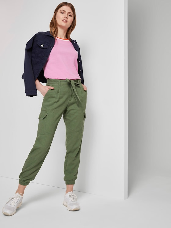 Utility Cargohose im Relaxed Fit - Frauen - olive green - 3 - TOM TAILOR Denim