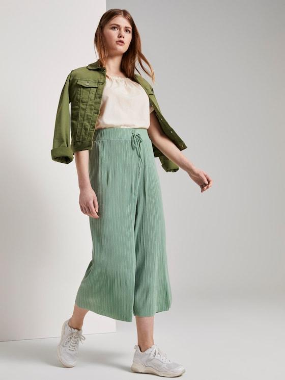 Plissée Culotte-Hose - Frauen - dust green - 3 - TOM TAILOR Denim