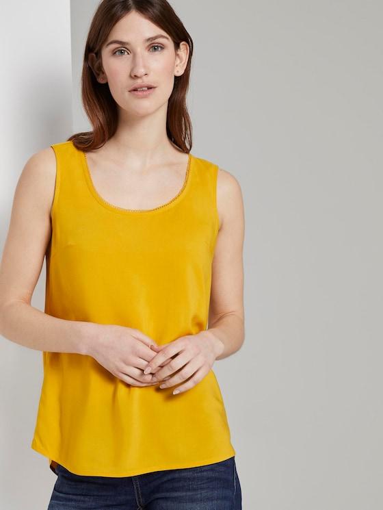 Fließende Bluse - Frauen - deep golden yellow - 5 - TOM TAILOR
