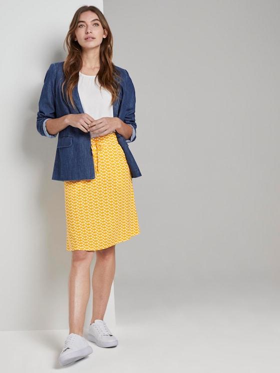 Gemusterter Mini-Rock aus Jersey - Frauen - yellow dot design - 3 - TOM TAILOR
