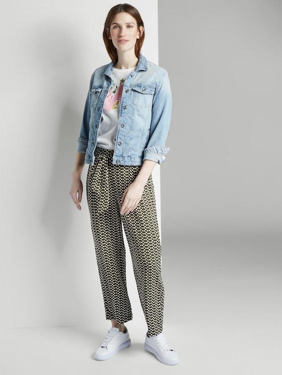 Fließende Culotte-Hose mit Musterung - Frauen - khaki dot design - 3 - TOM TAILOR
