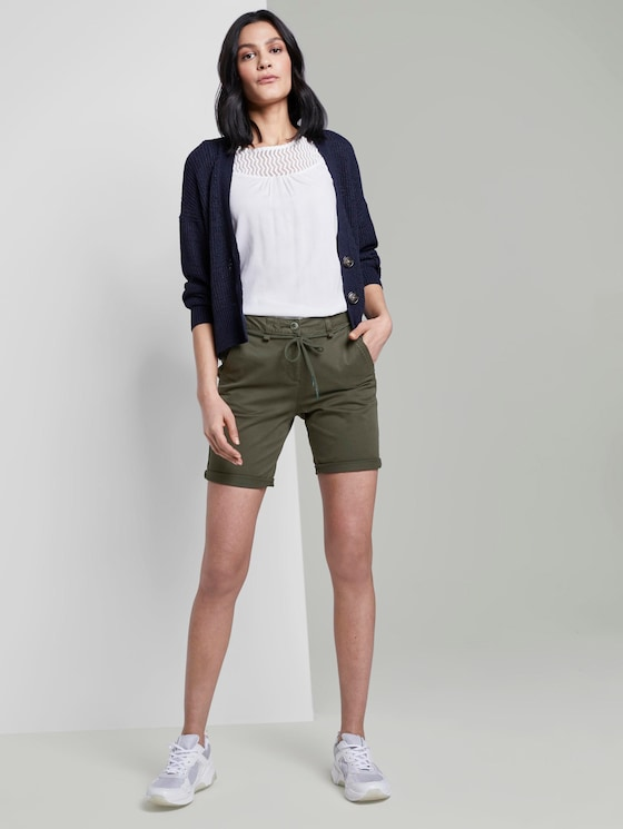 Chino Relaxed Bermuda shorts - Vrouwen - Woodland Green - 3 - TOM TAILOR