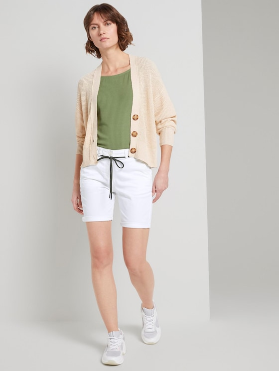 Chino Relaxed Bermuda Shorts - Frauen - White - 3 - TOM TAILOR