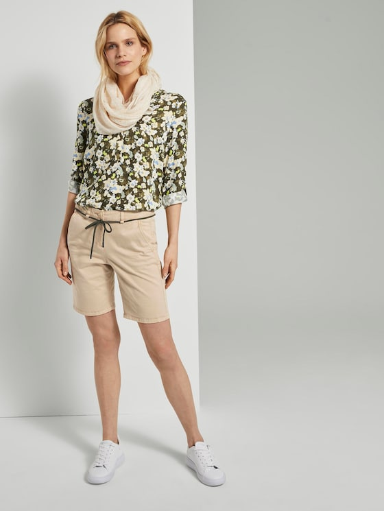 Chino Relaxed Bermuda Shorts - Frauen - cream toffee - 3 - TOM TAILOR