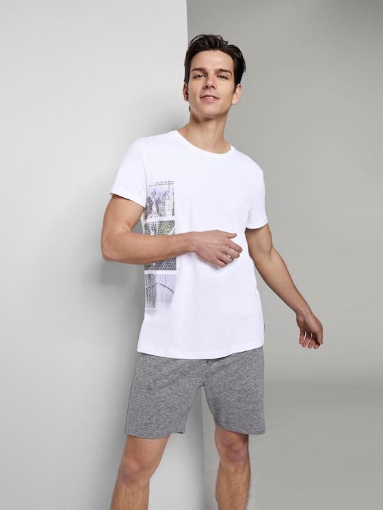 T-Shirt mit seitlichem Fotoprint - Männer - White - 5 - TOM TAILOR Denim
