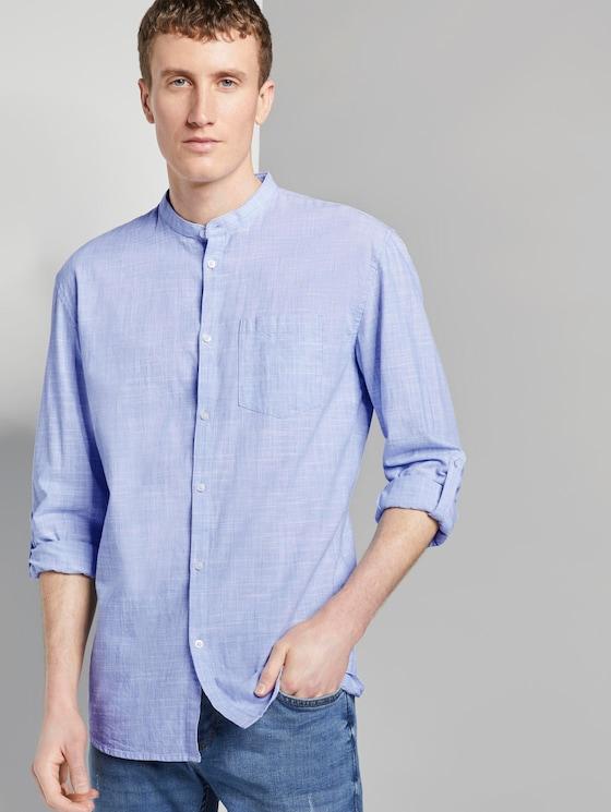 Strukturiertes Hemd mit Turn-Ups - Männer - Blue Younder - 5 - TOM TAILOR Denim