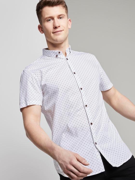 polka-dot shirt - Men - navy diamond stroke print - 5 - TOM TAILOR Denim