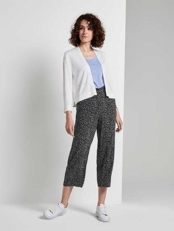 Culotte Hose mit elastischem Bund - Frauen - black offwhite dot print - 3 - TOM TAILOR