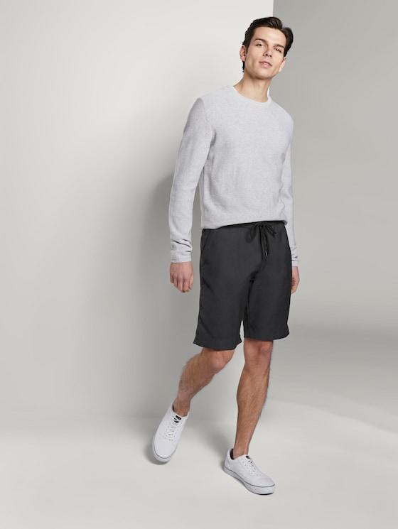 Jogger-Shorts mit Karomuster - Männer - Unique Check Antra - 3 - TOM TAILOR Denim