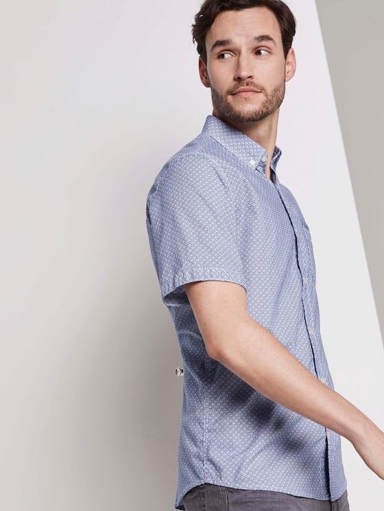 Gemustertes Hemd - Männer - blue orange minimal design - 5 - TOM TAILOR