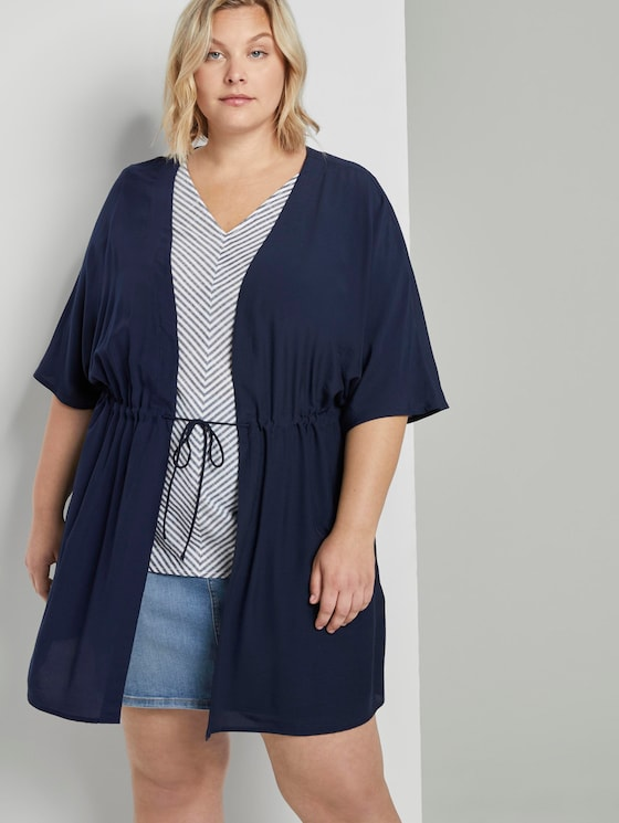 Blazer im Kimono-Look - Frauen - Real Navy Blue - 5 - My True Me