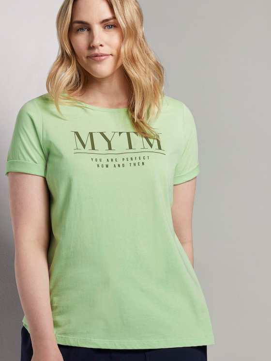 T-Shirt mit Artwork - Frauen - light pistachio green - 5 - My True Me