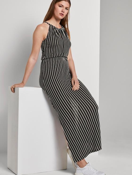 Gestreiftes Neckholder-Maxikleid - Frauen - black white stripe - 5 - TOM TAILOR Denim